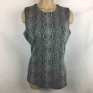 Buchanan Kang Python Snake Print Knit Top M